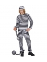 Déguisement Prisonnier Enfant noir et blanc (haut, pantalon et calot)