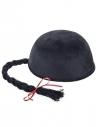 Chapeau chinois noir avec tresse