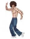 Déguisement Années 70 Rétro Homme (pantalon patchwork, chemise)