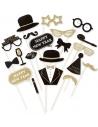 Set de 20 accessoires Nouvel an sur stick pour photo fun