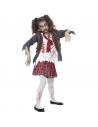 Déguisement enfant zombie écolière (jupe, veste, fausse chemise et cravate)| Déguisement Enfant