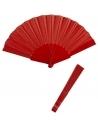 Eventail rouge en tissu (23 cm)