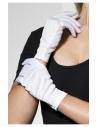 Gants polyester adulte blancs | Accessoires