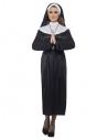 Déguisement Nonne noir et blanc (Robe, ceinture et coiffe)