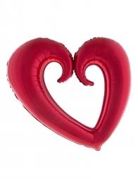 Ballon Cœur Rouge (94x109 cm)