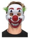 Masque de clown en PVC avec élastique