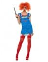Costume de Chucky, Bleu - Femme (T-Shirt et robe)
