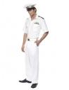 Déguisement Top Gun Capitaine Blanc Homme (chemise avec galon, pantalon, casquette)