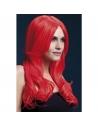 Perruque Fever Khloe sexy 66 cm, Rouge fluo| Accessoires