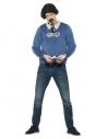 Déguisement du gangster Pablo (pull avec fausse chemise, perruque, moustache et billets)