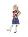 Déguisement enfant cow-girl (robe, gilet, foulard, ceinture et chapeau)