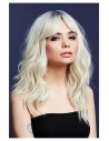 Perruque Fever Ashley, bicolore, Blond platine, 48 cm