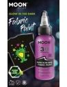 Peinture Tissu Violet 3D Glow In The Dark 30 ml - Cosmic Moon