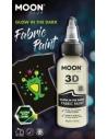 Peinture Tissu Blanc 3D Glow In The Dark 30 ml - Cosmic Moon