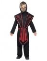 Déguisement enfant ninja (combinaison pantalon à capuche, veste, ceinture et bandages)