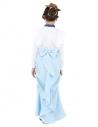 déguisement victorienne fille, bleu ( robe et chapeau)
