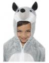 Déguisement loup enfant gris et blanc