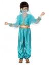 Déguisement princesse arabe fille (pantalon, haut et voile visage)