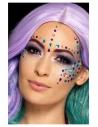 Autocollant bijoux multicolores pour visage