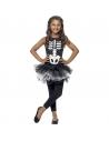 Déguisement Robe Squelette fille, noir et blanc avec tutu| Déguisement Enfant| Déguisement Enfant