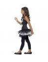 Déguisement Robe Squelette fille, noir et blanc avec tutu| Déguisement Enfant