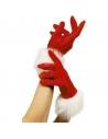 Gants Mère Noël velours et fourrure | Accessoires
