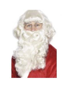 Perruque et barbe Père Noël platine super luxe | Accessoires