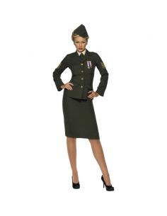 Déguisement femme officier de guerre kaki | Déguisement