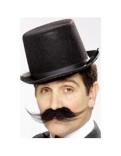 Moustaches noires et touffues de détective auto-adhésives | Accessoires