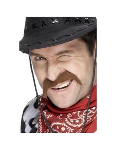 Moustaches cow-boy châtain auto-adhésives | Accessoires