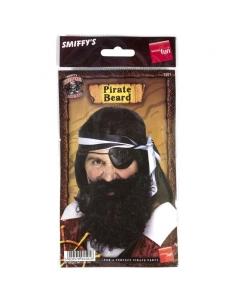 Barbe pirate noire avec élastique | Accessoires
