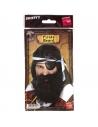 Barbe pirate noire avec élastique   Accessoires