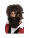 Barbe pirate châtain roux avec élastique | Accessoires