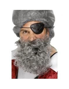 Barbe pirate grise avec élastique | Accessoires