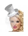 Serre-tête mini chapeau argent | Accessoires