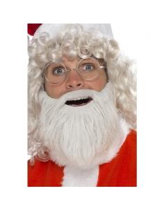 Barbe Père Noël peluche nacré   Accessoires