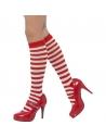 Chaussettes hautes rayées rouge et blanc   Accessoires