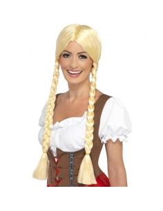 Perruque bavaroise blonde | Accessoires