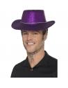 Chapeau cow-boy paillettes violet | Accessoires
