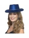 Chapeau cow-boy paillettes bleu | Accessoires