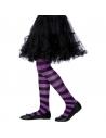 Collants sorcière enfant violet/noir 6/12 ans | Accessoires