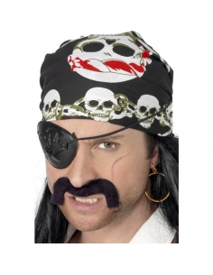 Bandana pirate noir | Accessoires