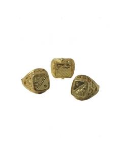 24 bagues dorées jumbo | Professionnels