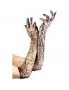 Gants toile d'araignée 52 cm | Accessoires