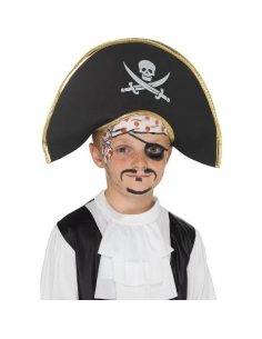 Bicorne de pirate souple enfant | Accessoires