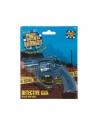 Pistolet détective plastique bleu 8 coups, 13 cm | Accessoires