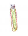 4 colliers de perles fluo   Accessoires