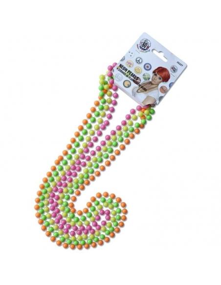 4 colliers de perles fluo | Accessoires
