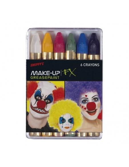 Lot de 12 boîtes de 6 crayons maquillage carnaval   Accessoires