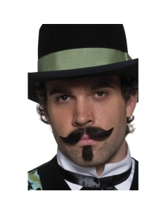 Moustaches western brunes effet naturel auto-adhésives   Accessoires